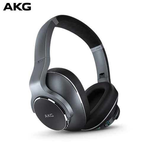 AKG N700NC Over-Ear Foldable Wireless Headphones, Active Noise Cancelling Headphones - Silver (US Version)