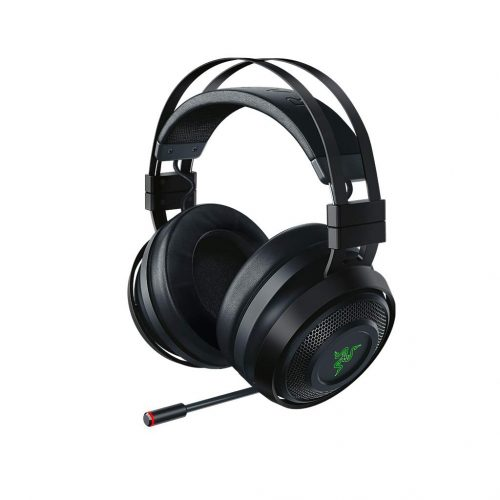 Razer Nari Ultimate Wireless 7.1 Surround Sound Gaming Headset: THX Spatial Audio & Haptic Feedback - Auto-Adjust Headband & Swivel Cups - Chroma RGB - Retractable Mic - For PC, PS4, Xbox One