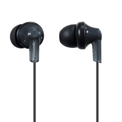 Panasonic ErgoFit In-Ear Earbud Headphones RP-HJE120-K (Black) Dynamic Crystal Clear Sound, Ergonomic Comfort-Fit