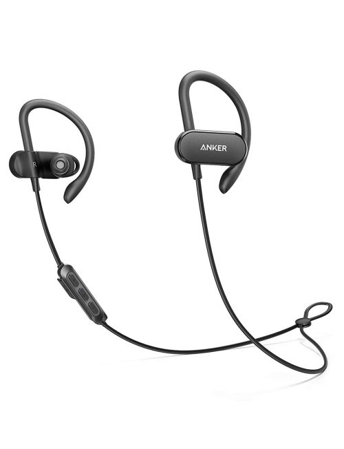 [Upgraded] Anker Soundbuds Curve Wireless Headphones, 18H Battery, IPX7 Waterproof Bluetooth Headphones, Bluetooth 5.0, Built in Mic and Carry Pouch,...