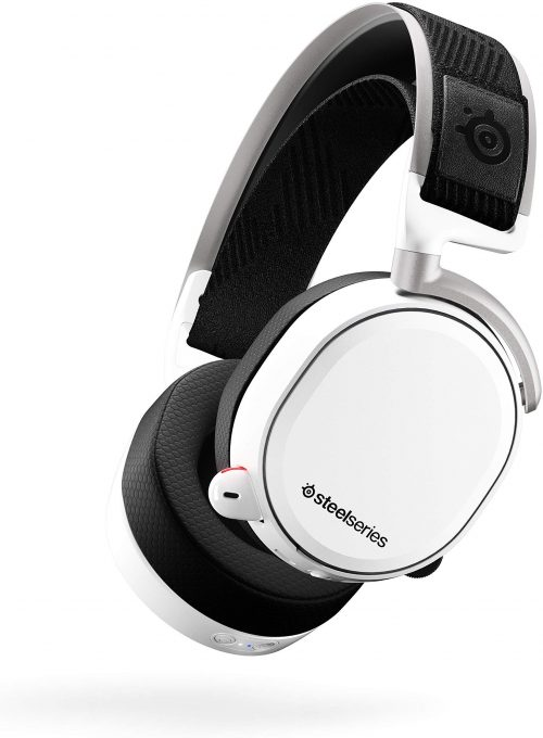 SteelSeries Arctis Pro Wireless Gaming Headset - Lossless High Fidelity Wireless + Bluetooth for PS4 and PC - White by SteelSeries