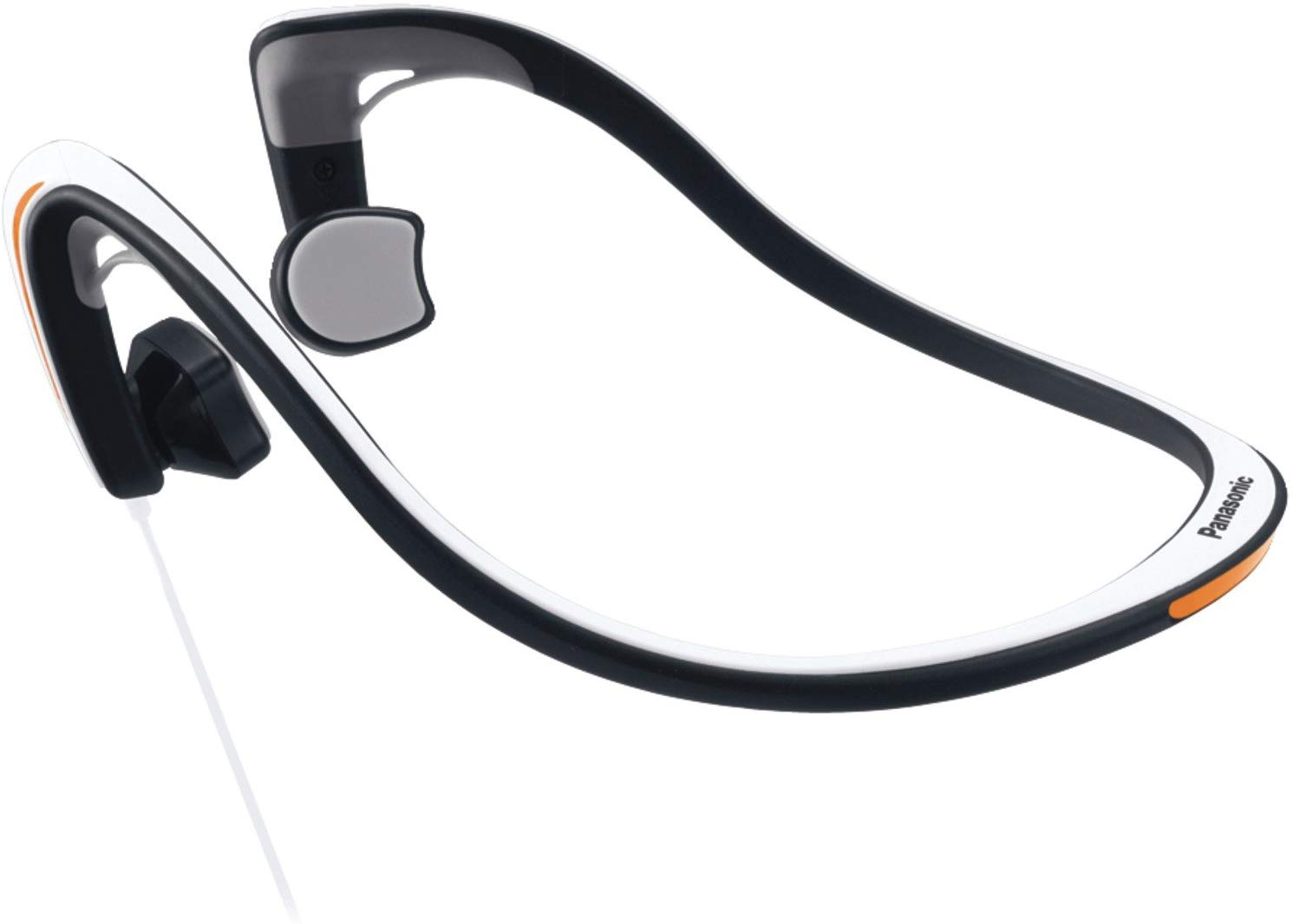 Panasonic RP-HGS10-W Open-Ear Bone Conduction Headphones with Reflective Design, White