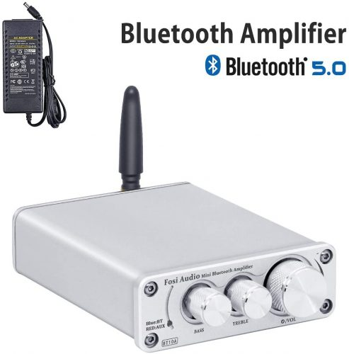[2021 Upgraded] Bluetooth 5.0 Amplifier Stereo Audio Amp Receiver