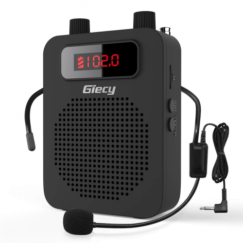 Giecy Voice Amplifier Portable 15W Rechargeable Wired Headset