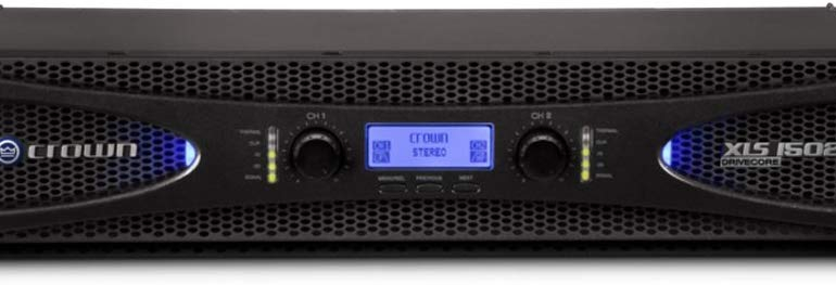 Crown XLS1502 Two-channel, 525W at 4Ω Power Amplifier