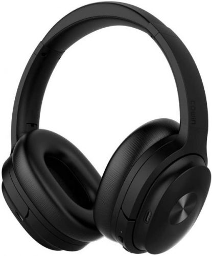 COWIN SE7 Active Noise Cancelling Headphones Bluetooth Headphones Wireless Headphones Over Ear with Microphone/Aptx, Comfortable Protein Earpads, 30 Hours Playtime for Travel/Work, Black