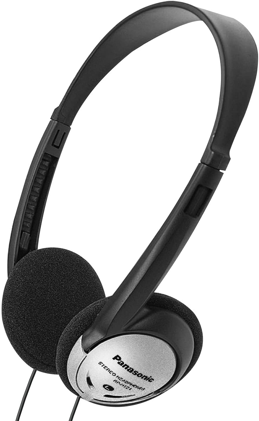 Panasonic Headphones On-Ear Lightweight with XBS RP-HT21 (Black & Silver)
