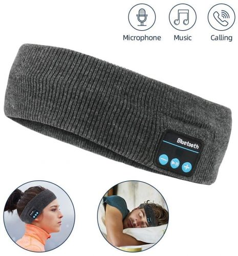WIOR Sleep Headphones Bluetooth Headband Wireless Sports Headband Hands-Free Music Bedphones Sleep Headphones with Stereo Speaker and Mic Speakers for Workout Running Jogging Yoga Side Sleepers