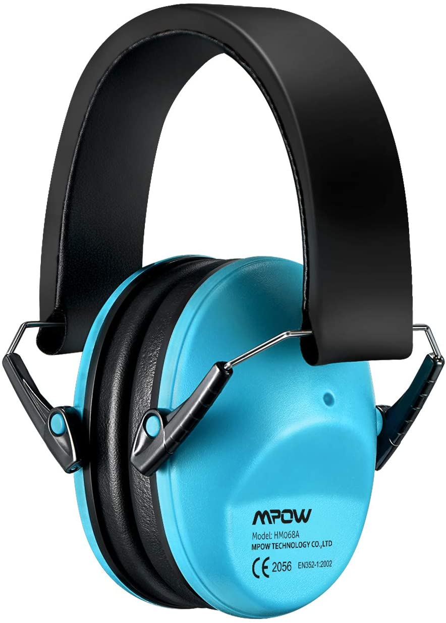 Mpow 068 Kids Ear Protection, NRR 25dB Noise Reduction Ear Muffs, Toddler Ear Protection, Protective Earmuffs for Shooting Range Hunting Season, for Toddlers Kids Children Teens-Blue - Baby Noise Cancelling Headphones
