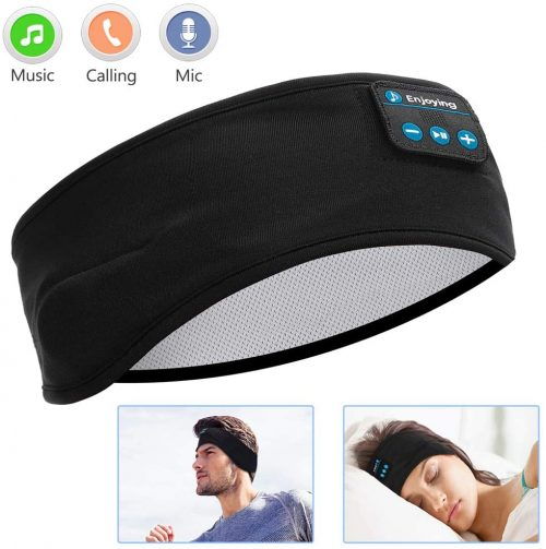 Sleep Headphones Bluetooth, Voerou Wireless Headband Headphones Sports Sweatband with Ultra-Thin HD Stereo Speakers for Sleeping, Workout, Jogging, Yoga, Insomnia, Travel, Meditation