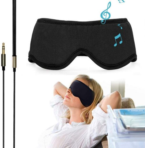 "Sleepace Sleep Headphones, Comfortable Washable Eye Mask with Built-in Earphone for Sleeping, Perfect for Air Travel, Relaxation, Meditation, Insomnia, Side Sleep M(21.65""~22.44"")"
