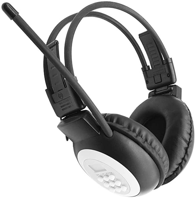 Portable Personal FM Radio Headphones Ear Muffs with Best Reception, Wireless Headset with Radio Built-in for Walking, Jogging, Daily Works Powered by 2 AA Batteries (Not Included)