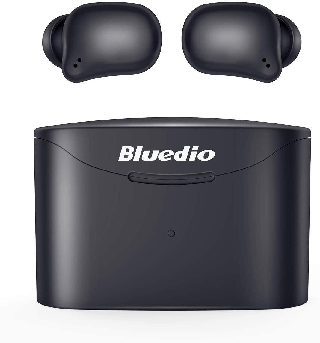 Bluetooth 5.0 Wireless Earbuds, Bluedio T Elf 2 True Wireless Touch Headphones in-Ear Earphones with Charging Case, Mini Car Headset Built-in Mic for Cell Phone/Sports, 6Hrs Playtime, LED Indicator