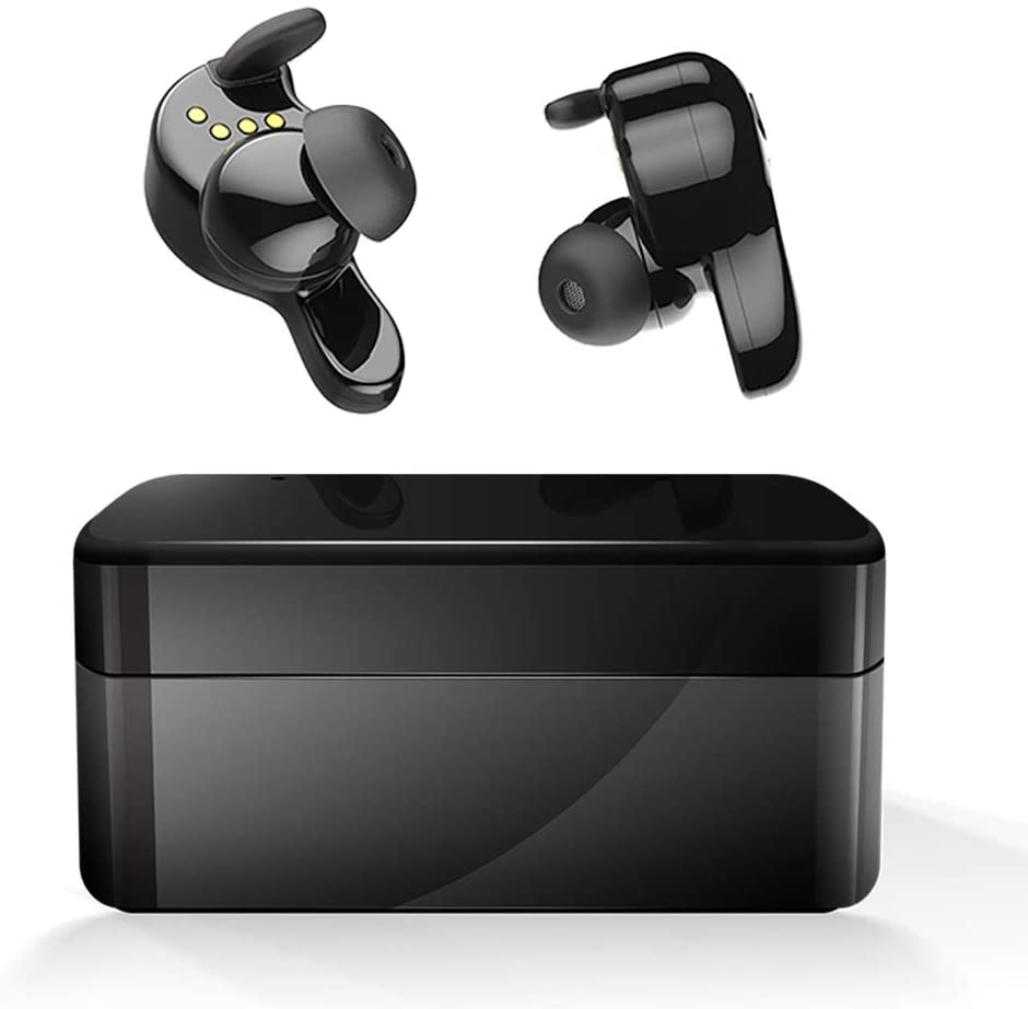 Wireless earbuds, AMINY U-Winner Bluetooth 5.0 True Wireless Bluetooth Earbuds with Charging Case 20H Playtime 3D Stereo Sound Wireless Headphones for iOS Android, Built-in Microphone