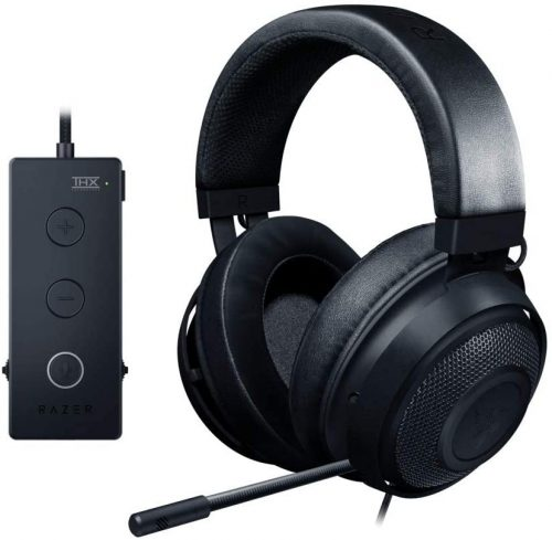 Razer Kraken Tournament Edition THX 7.1 Surround Sound Gaming Headset: Aluminum Frame - Retractable noise-canceling Mic - USB DAC Included - For PC, PS4, Nintendo Switch - Classic Black