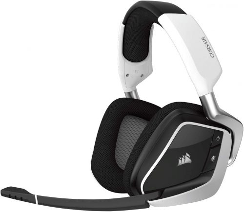 Corsair CA-9011153-NA Void Pro RGB Wireless Gaming Headset - Dolby 7.1 Surround Sound Headphones for PC - Discord Certified - 50mm Drivers – White