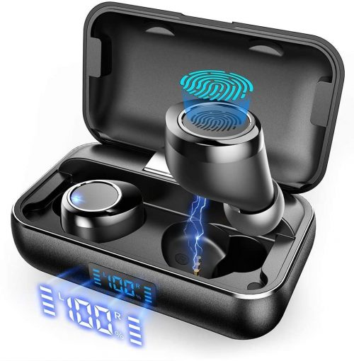 Actual Wireless Earbuds, VANKYO X200 Bluetooth 5.0 Earbuds in-Ear TWS Stereo Headphones with Smart LED Display Charging Case IPX8 Waterproof 120H Playtime Built-in Mic with Deep Bass for Sports Work