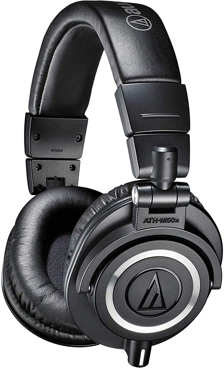 Audio-Technica ATH-M50x Professional Studio Monitor Headphones, Black, Professional-Grade, Critically Acclaimed, With Detachable Cable