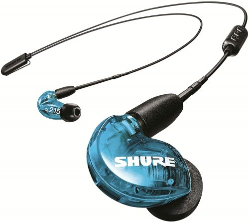 Shure SE215 Wireless Earphones with Bluetooth 5.0, Sound Isolating, Special Edition Blue