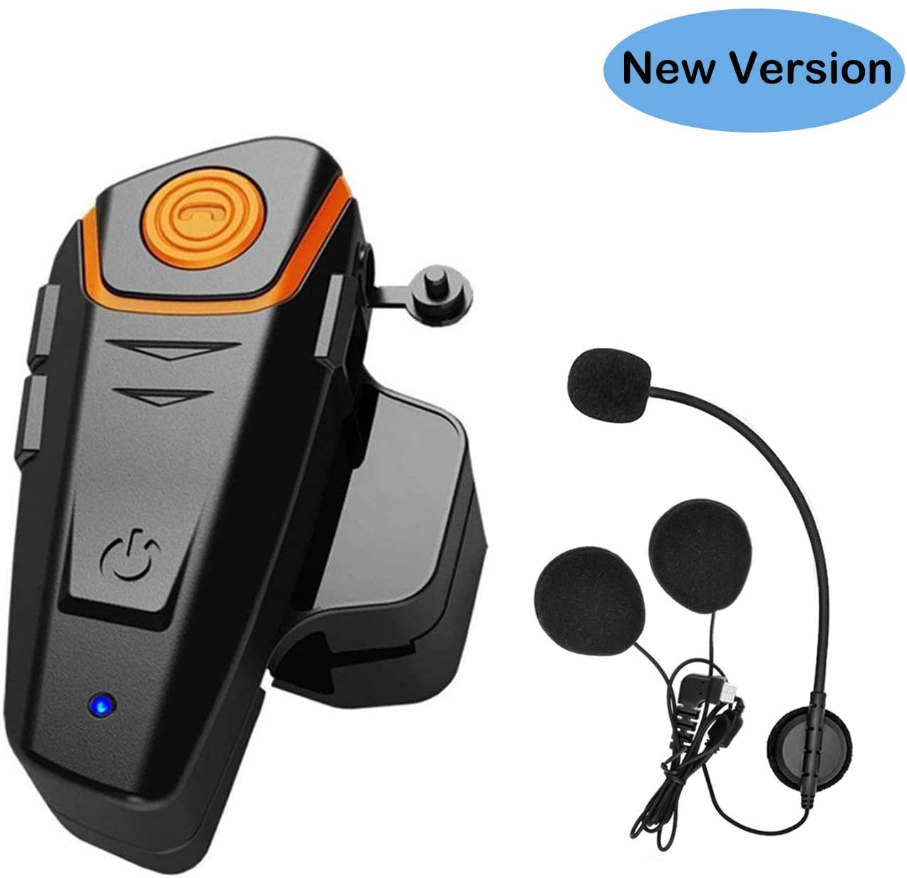 THOKWOK Motorcycle Bluetooth Headset, BT-S2 1000m Helmet Bluetooth Communication Systems Ski Helmet Headphones Bluetooth Intercom Walkie-Talkie for Snowmobile, Up to 3 Riders (Pack 1, New Version)