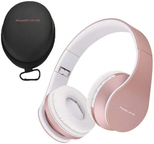 PowerLocus Wireless-Bluetooth Over-Ear Stereo (Rose Gold)