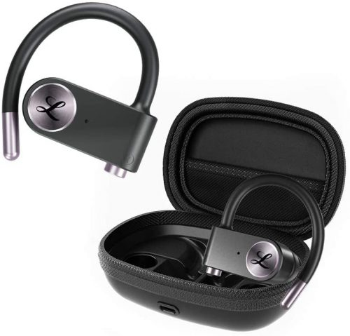 Wireless Earbuds for Sports, LINPA World Bluetooth 5.0 Headphones True Wireless Stereo Deep Bass Built-in Mic IPX7 Waterproof Earphones in Ear with Charging Case 54 Hours Playtime for Workout Running