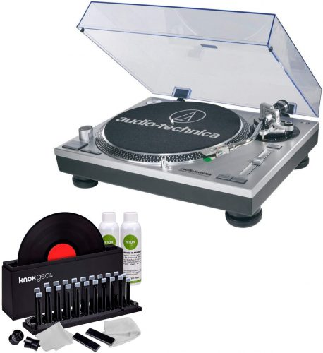 Audio-Technica AT-LP120-USB Direct-Drive Turntable (USB & Analog) with Knox Vinyl Cleaner Kit - DJ Turntables