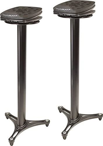 Ultimate Support MS-100B MS Series Professional Column Studio Monitor Stand with Adjustable Angle and Axis - Mixing console stand