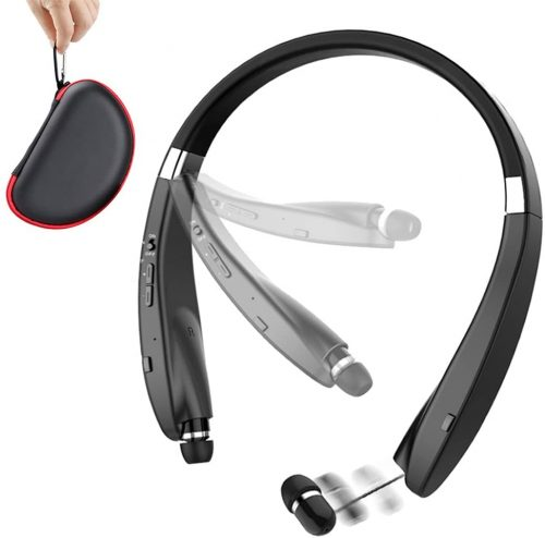 Foldable Bluetooth Headset, BEARTWO Lightweight Retractable Bluetooth Headphones for sports & Exercise