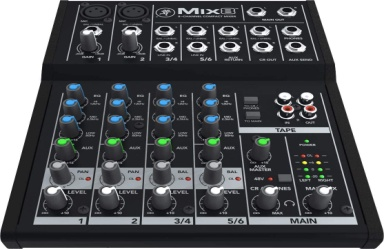 Mackie Mix Series Mix8 8-Channel Mixer - Analog Mixing Console
