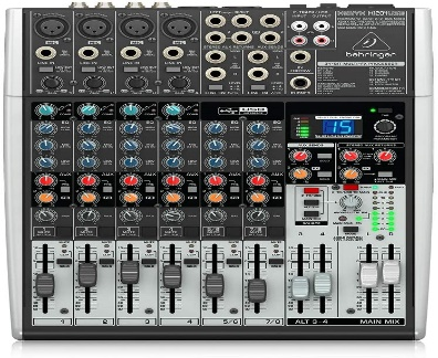 Behringer Xenyx X1204USB Premium 12-Input 2/2-Bus Mixer with USB/Audio Interface, Black