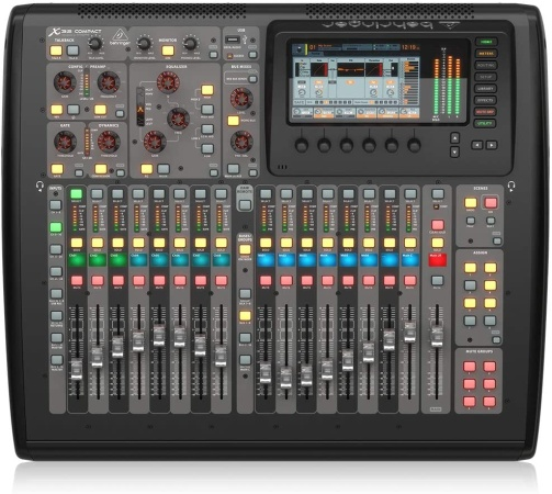 . BEHRINGER, X-32 COMPACT 40-Input 25-Bus Digital Mixing Console with 16 Programmable Midas Preamps Black - Mixing console