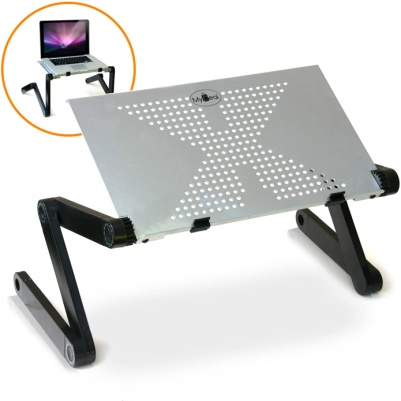 DJcool PC Laptop Notebook DJ Riser Stand w/ Adjustable Vented Aluminum Surface - Mixing console stand