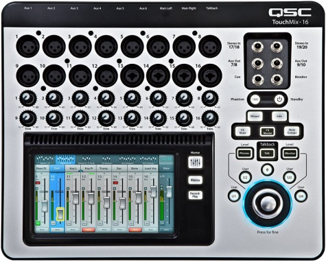 QSC TouchMix-16 Compact Digital Mixer with Bag - Mixing console