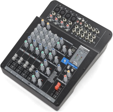 Samson Mixpad MXP124FX Compact, 12-Channel Analog Stereo Mixer with Effects and USB - Analog Mixing Console