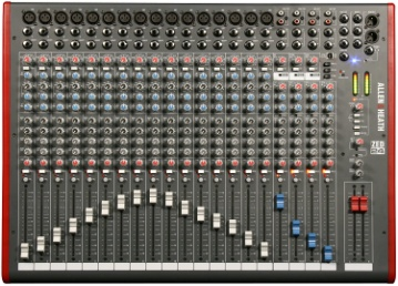Allen & Heath ZED-24 24-Channel Mixer with USB Interface - Analog Mixing Console