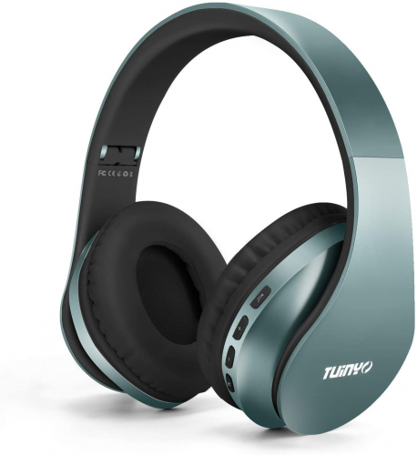 Tuinyo Wireless Foldable Headphones Over Ear - Silver Blue