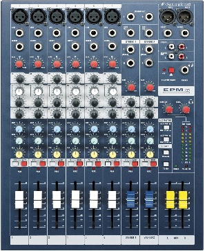 Soundcraft EPM6 High-Performance 6-channel Audio Mixer