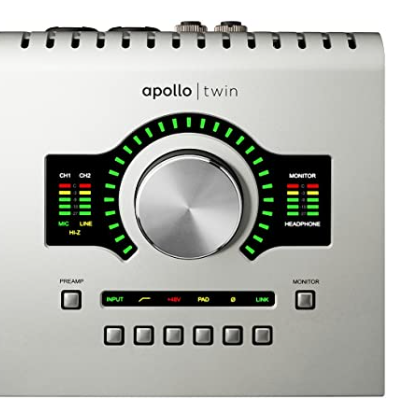 Universal Audio Apollo Twin USB High-Resolution USB Interface with Real-time UAD DUO Processing