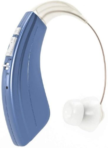Britzgo Premium Hearing Amplifier for Adults and Seniors, Aids in Hearing, Rechargeable Battery with 50 Hour Life Per Charge, 2 Frequency Modes, Fits Either Ear, BTE
