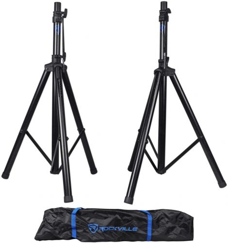 Pair Rockville RVES1 Adjustable Tripod