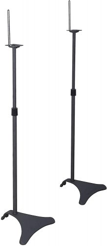 Atlantic Adjustable Height Speaker Stands Black