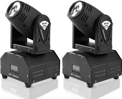 MFL. 10w LED Moving Head Light RGBW Stage Light Mini Moving Beams Rotating Moving Head DMX512 Sound Activated Master-slave Auto Running for DJ Party Disco KTV Nightclub Lives 2 pcs(Beam Light) - DJ Light Solutions