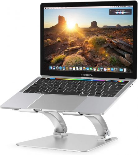 Nulaxy Laptop Stand, Ergonomic Height Angle Adjustable Computer Laptop Holder Compatible with MacBook