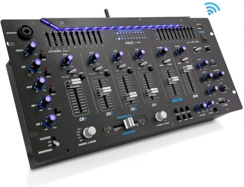 Pyle 6 Channel Mixer, Bluetooth DJ Controller, Stereo Mixer