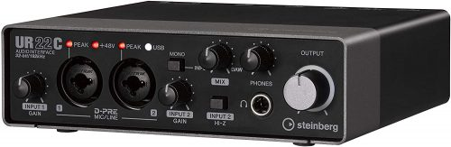 Steinberg UR22C 2x2 USB 3.0 Audio Interface with Cubase AI and Cubasis LE - Microphone Audio Interfaces