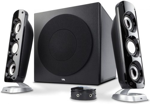 "Cyber Acoustics CA-3908 2.1 Stereo Speaker System with 6.5"" Subwoofer and Control Pod - Computer and Home Audio Set with 3.5mm AUX Input for Cellphone, Tablet, Desktop, Laptop, or Gaming"