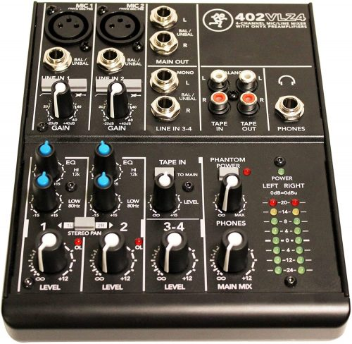 Mackie 402VLZ4, 4-channel Ultra Compact Mixer with High-Quality Onyx Preamps