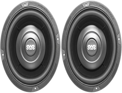 Earthquake Sound SWS-6.5X 6.5-inch Shallow Woofer System Subwoofers, 4-Ohm (Pair) - Woofer