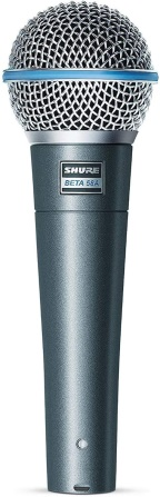 Shure BETA 58A Supercardioid Dynamic Vocal Microphone, Silver